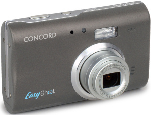 Concord's EasyShot 500z digital camera. Courtesy of Concord, with modifications by Michael R. Tomkins. Click for a bigger picture!