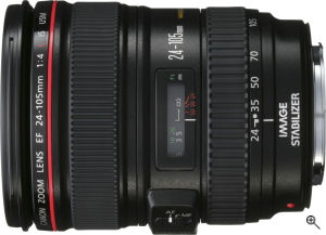 Canon's EF 70-300mm f/4-5.6 IS USM lens. Courtesy of Canon, with modifications by Michael R. Tomkins. Click for a bigger picture!