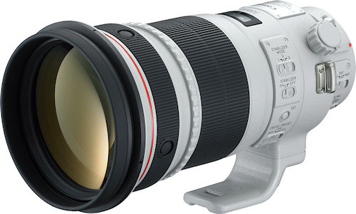 The Canon EF 300mm f/2.8L IS II USM lens. Photo provided by Canon USA Inc. Click for a bigger picture!