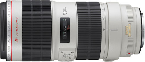Canon's EF 70-200mm f/2.8L IS II USM lens. Photo provided by Canon. Click for a bigger picture!