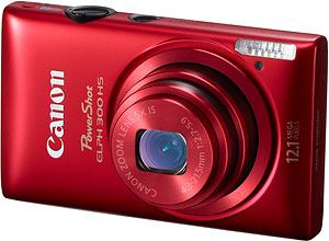 Canon's PowerShot ELPH 300 HS digital camera. Photo provided by Canon USA Inc. Click for a bigger picture!