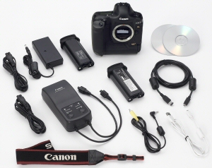 Canon's EOS-1Ds Mark II Digital. Courtesy of Canon, with modifications by Michael R. Tomkins. Click for a bigger picture!