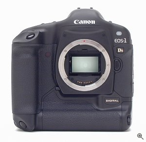 Canon's EOS-1Ds SLR digital camera. Copyright (c) 2002, The Imaging Resource. All rights reserved. Click for a bigger picture!