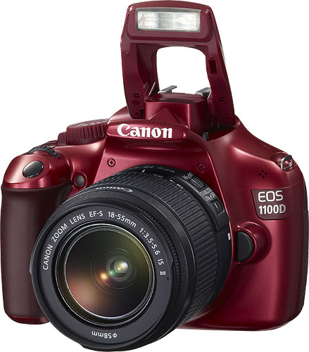 Canon Australia's limited edition red EOS 1100D digital SLR. Photo provided by Canon Australia Pty Ltd. Click for a bigger picture!