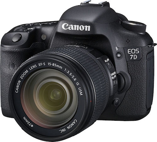 Canon's EOS 7D digital SLR. Photo provided by Canon. Click for a bigger picture!