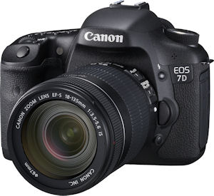 Canon's EOS 7D digital SLR. Photo provided by Canon USA Inc. Click for a bigger picture!