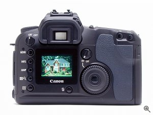 Canon's EOS D60 digital camera. Copyright © 2002, The Imaging Resource. All rights reserved. Click for a bigger picture!