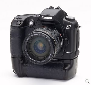 Canon's EOS D60 digital camera. Courtesy of Canon Inc., with modifications by Michael R. Tomkins. Click for a bigger picture!