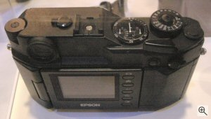 Epson and Cosina's unnamed rangefinder digital camera. Copyright © 2004, The Imaging Resource. All rights reserved.