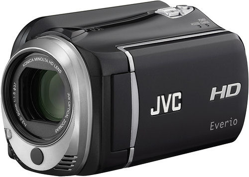 JVC's EverioMemory GZ-HD620 camcorder. Photo provided by JVC Americas Corp.