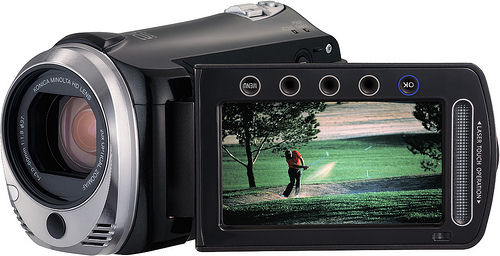 JVC's EverioMemory GZ-HM300 camcorder. Photo provided by JVC Americas Corp.