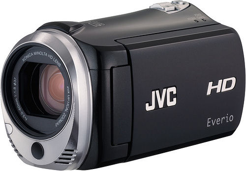 JVC's EverioMemory GZ-HM320 camcorder. Photo provided by JVC Americas Corp.