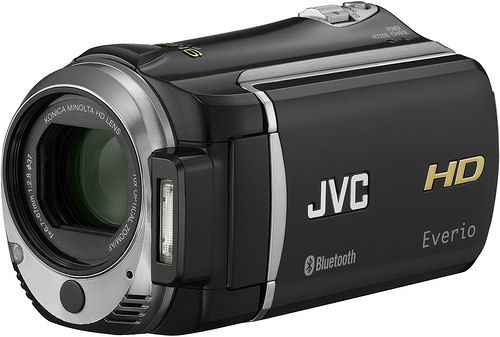 JVC's EverioMemory GZ-HM550 camcorder. Photo provided by JVC Americas Corp.