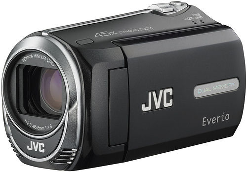 JVC's EverioMemory GZ-MS250 camcorder. Photo provided by JVC Americas Corp.