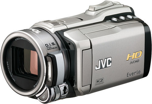 JVC's HD Everio GZ-HM1 camcorder. Photo provided by JVC Americas Corp.