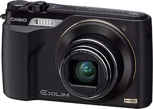 Casio's EXILIM Zoom EX-FH100 digital camera. Photo provided by Casio America Inc. Click for a bigger picture!