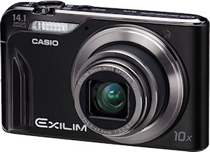 Casio's EXILIM Zoom EX-H15 digital camera. Photo provided by Casio America Inc. Click for a bigger picture!