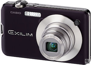 Casio's EXILIM Card EX-S10 digital camera. Courtesy of Casio, with modifications by Michael R. Tomkins. Click for a bigger picture!