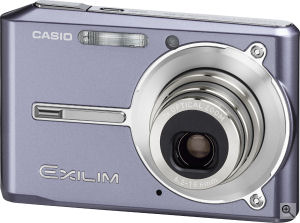 Casio's EXILIM CARD EX-S600 digital camera. Courtesy of Casio, with modifications by Michael R. Tomkins. Click for a bigger picture!