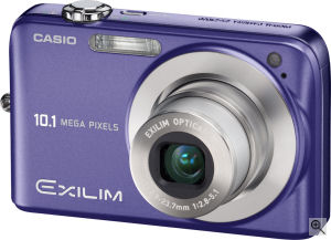 Casio's EXILIM ZOOM EX-Z1050 digital camera. Courtesy of Casio, with modifications by Michael R. Tomkins. Click for a bigger picture!