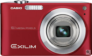Casio's EXILIM Zoom EX-Z200 digital camera. Courtesy of Casio, with modifications by Michael R. Tomkins. Click for a bigger picture!