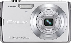 Casio's EXILIM Zoom EX-Z250 digital camera. Courtesy of Casio, with modifications by Michael R. Tomkins. Click for a bigger picture!
