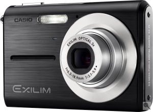 Casio's EXILIM ZOOM EX-Z5 digital camera. Courtesy of Casio, with modifications by Michael R. Tomkins. Click for a bigger picture!