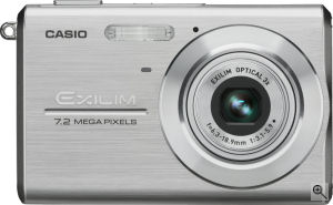 Casio's EXILIM ZOOM EX-Z75 digital camera. Courtesy of Casio, with modifications by Michael R. Tomkins. Click for a bigger picture!