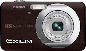 Casio's EXILIM Zoom EX-Z85 digital camera. Courtesy of Casio, with modifications by Michael R. Tomkins. Click for a bigger picture!