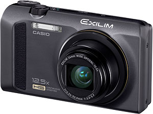 Casio's EXILIM EX-ZR100 digital camera. Photo provided by Casio America Inc. Click for a bigger picture!
