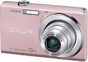 Casio's EXILIM EX-ZS10 digital camera. Photo provided by Casio America Inc. Click for a bigger picture!