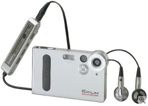 Casio's Exilim EX-M1 digital camera. Courtesy of Casio, with modifications by Michael R. Tomkins.