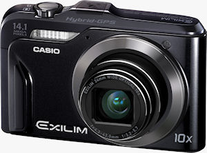 Casio's EXILIM Hi-Zoom EX-H20G digital camera. Photo provided by Casio America, Inc. Click for a bigger picture!