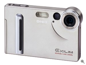 Casio's Exilim EX-S2 digital camera. Courtesy of Casio, with modifications by Michael R. Tomkins.