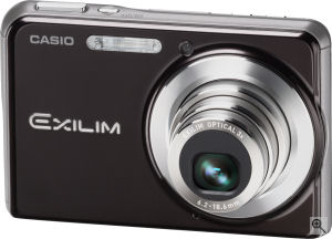 Casio's EXILIM CARD EX-S880 digital camera. Courtesy of Casio, with modifications by Michael R. Tomkins. Click for a bigger picture!