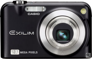Casio's EXILIM Zoom EX-Z1200 digital camera. Courtesy of Casio, with modifications by Michael R. Tomkins. Click for a bigger picture!