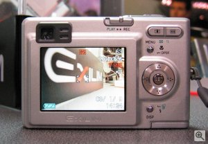 Casio's Exilim Zoom EX-Z3 digital camera. Copyright (c) 2003, The Imaging Resource. All rights reserved. Click for a bigger picture!