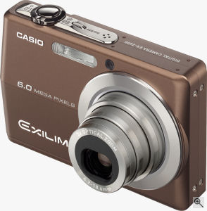 Casio's EXILIM EX-Z600 digital camera. Courtesy of Casio, with modifications by Michael R. Tomkins. Click for a bigger picture!