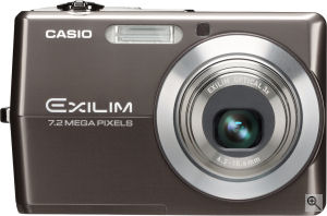 Casio's EXILIM ZOOM EX-Z700 digital camera. Courtesy of Casio, with modifications by Michael R. Tomkins. Click for a bigger picture!