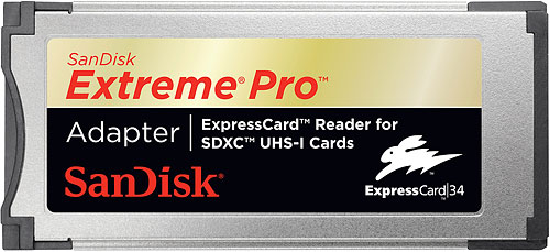 The SanDisk Extreme Pro ExpressCard adapter. Rendering provided by SanDisk Corp. Click for a bigger picture!