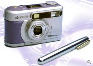Kyocera's EZ Digital 1.3 digital camera. Courtesy  of Kyocera Optics Inc. Click for a bigger picture!