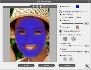 Reallusion's FaceFilter Studio 2. Copyright (c) 2007, The Imaging Resource. All rights reserved.