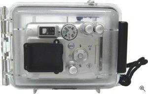 Fantasea's CP-3N underwater housing. Courtesy of Fantasea Line, with modifications by Michael R. Tomkins. Click for a bigger picture!