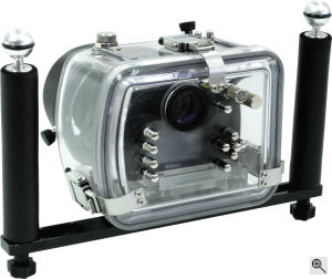 Fantasea's FD-40X waterproof housing. Courtesy of Fantasea, with modifications by Michael R. Tomkins. Click for a bigger picture!