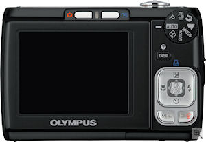 Olympus' FE-310 digital camera. Courtesy of Olympus, with modifications by Michael R. Tomkins. Click for a bigger picture!
