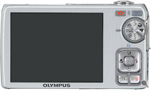Olympus' FE-350 digital camera. Courtesy of Olympus, with modifications by Michael R. Tomkins. Click for a bigger picture!