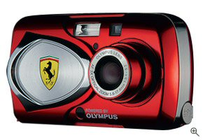 The Ferrari Digital Model 2003 digital camera. Courtesy of Olympus, with modifications by Michael R. Tomkins. Click for a bigger picture!