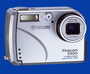 Kyocera's Finecam 3300, front view. Courtesy of Kyocera Corp.