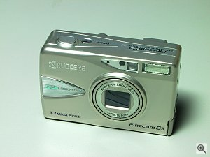 Kyocera's FineCam S3 digital camera. Copyright (c) 2001, Michael R. Tomkins, all rights reserved. Click for a bigger picture!