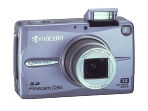 Kyocera's FineCam S3X (lavender). Courtesy of Kyocera Corp., with modifications by Michael R. Tomkins.